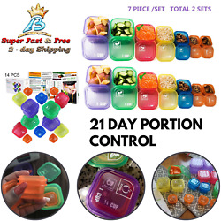 21 Day Portion Control Diet 14 Kit Diet Fix Weight Loss Guide Food Plan BPA Free $21.65