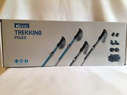 Koviti Trekking Poles Collapsible Hiking Poles 2pc Pack Walking Stick $29.99