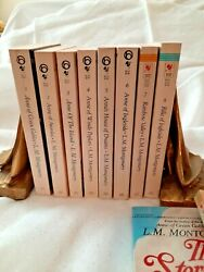 Anne Of Green Gables Book Lot 1-8 Vintage 1987 LM Montgomery Set + 2 Additional