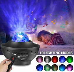 Bluetooth Music LED USB Star Night Light Projector With Remote Bedroom Kid Gift $25.41