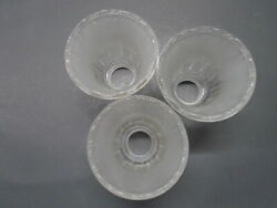 HARBOR BREEZE CEILING FAN REPLACEMENT SHADES GLOBES FLUTED FROSTED CLEAR $35.00