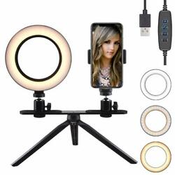 FREESOO Light Ring Of 6 quot; With Tripod Support For Desk Dimmable Light LED $221.34
