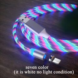 Magnetic LED RGB Type C cable Fast Charging $8.90