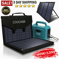 COOCHEER Solar Panel 60W 120W Portable Foldable for Power Station Generator # $188.99