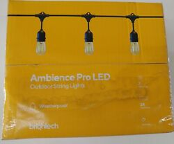 New Brightech Ambience Pro LED 24ft Dimmable Weatherproof 7 Lights Outdoor Sting