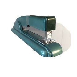 Vintage Swingline Model 27 Teal Green Desk Stapler Art Deco Style Retro $21.00