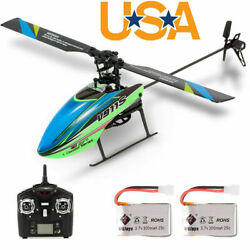 WLtoys V911S 4CH 6G Non aileron RC Helicopter Kids Toys w 2 Batteries Gift E4E1 $55.48