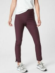 ATHLETA Wander Slim Ankle Pant 4 S Small Antique Burgundy Hiking Pants New $54.98