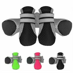 Dog Shoes Boots Reflective No Slip Dog Booties Socks for Small Medium large Dogs $8.07