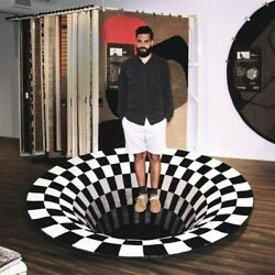 3D Bottomless Hole Optical Illusion Area Rug Carpet Floor Mat for Home Bedroom $18.59