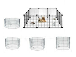 Multi Size Heavy Duty Metal Dog Cat Exercise Fence Playpen Kennel Safe For Pet $61.74