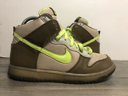 Nike Dunk High Size 8 2007 309432 371 Volt Rare $100.00