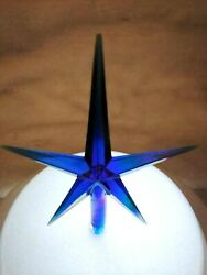 Large Blue Iridescent Aurora Star for Ceramic Christmas Tree Topper $4.99