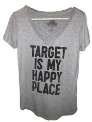 Womens Target Is My Happy Place Cross Front Top Worn Once Size Small $13.99