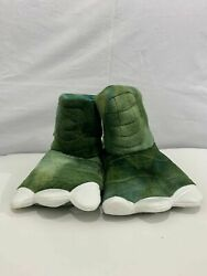 Toddler Boys#x27; Slipper Boots Cat amp; Jack Dark Green Dinosaur New With Tags SM $10.99