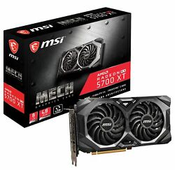 MSI Radeon RX 5700 XT MECH Graphics Card PCI E 4.0 8G GDDR6 VR Ready $384.99