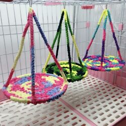 NEW Hamster Bed Climbing Rope Net Small Pets Braided Hammock Guinea Pigs Toy $7.99