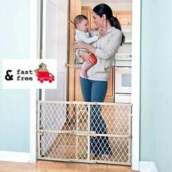 Baby Safety Gate Child Toddler Pet Dog Cat Door Indoor Fence Wood Frame Net Mesh $25.33