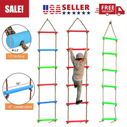 6Rungs Kids Rope Swing Climbing Ladder Fitness Toy Outdooramp;Indoor Exercise Equip $26.96