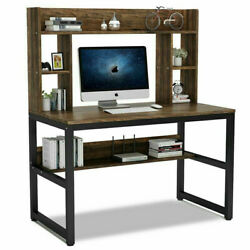 Computer Desk Table Workstation Home Office Student Dorm Laptop StudyBlack white $43.88