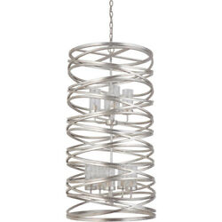 Mariana Imports 100914 Finley Chandelier Silver Leaf $1538.70