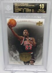 MICHAEL JORDAN 2009 UPPER DECK LEGACY GOLD BECKETT BGS PRISTINE 10 BLACK LABEL  $3998.00