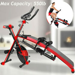 Fitness Machine Indoor Cycling Bike Abdominal Trainers Cardio Gym Home Workout $239.99