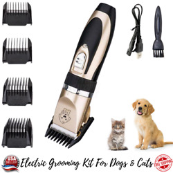 Pet Dog Cat Clippers Grooming Hair Trimmer Groomer Shaver Razor Quiet Clipper $13.18
