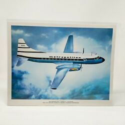 440 Metropolitan Airplane Vintage 8x10 General Dynamics Corp US Military $10.00