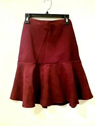 NWT Skirts Girls Size 7 8 amp; 18 by MCollection A Line Below Knee Wine Red Color $6.99