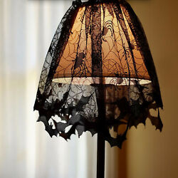 Halloween Party Lace Spider Light Shade Curtain Cobweb Haunted Home Decor Props $9.97