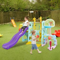 6 In 1 Toddler Climber Kids Swing Slide Playset For Backyard And Indoor Baby Toy $249.99