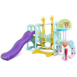 6 In 1 Toddler Climber Kids Swing Slide Playset For Backyard amp; Indoor Baby Toy $249.99
