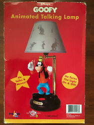 Vintage Disney's Goofy Animated Talking Lamp NEW in box Rare $225.00
