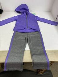NWT Girls Toddler Sketchers 3 Piece Outfit Shirt hoodie Joggers Size 3T Purple $15.99