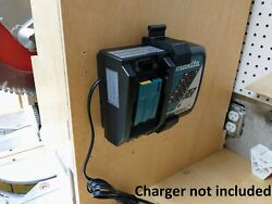 Makita DC18RC Charger Wall Mount Holder With Optional 18V Battery Mounts Holder $22.99