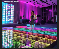 3D MIRROR LED VIDEO DANCE FLOOR led lights portable 5mx3m $8500.00