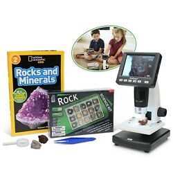 IQCREW Amscope Kids Portable LCD Digital Microscope with Rock and Mineral Kit $129.99