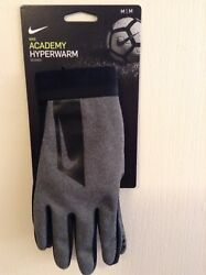 Nike Academy Hyperwarm Soccer Field Player Gloves Adult Sizes Gray. $34.99