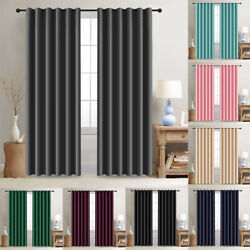 2 Panels Blackout Window Curtains Thermal Insulated Drapes for Bedroom 52quot;Width $22.99