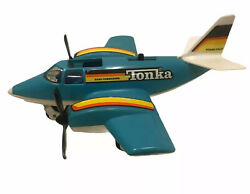 Vintage Tonka Hand Commander Turbo Prop Toy Airplane Vintage 1979 Blue White $44.99
