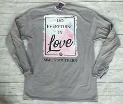 Simply Southern quot;Do Everything In Love 1 Corinthians 16:14quot; Women#x27;s Sz. Large $15.88