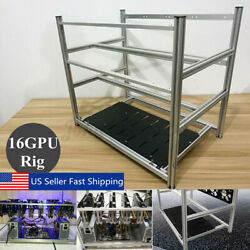 16 GPU Stackable Open Air Mining Rig Graphics Frame Case Holder FOR ETH BTC $55.12