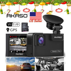 1080P AKASO Trace 1Pro Car Camera Wifi HD Dash Camcorder With Phone APPS GPS NEW $92.99