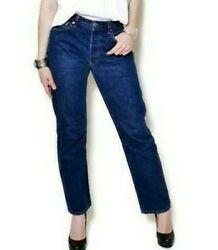 Levi#x27;s Original 501 For Women High Rise With Button Blue Wide Leg. $22.45