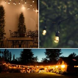 19.5FT LED Outdoor Waterproof Commercial String Lights With Bulbs Décor