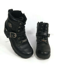 Harley Davidson Women#x27;s Tegan Black Leather Motorcycle Biker Boots Size 7 84424 $64.99