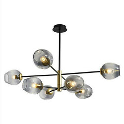 Nordic Molecular 8 Light Glass Chandeliers Lighting Pendant Lamp Ceiling Fixture $153.59