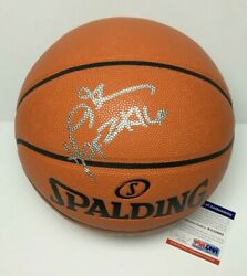 Allen Iverson Signed NBA Spalding Game Replica Basketball quot;HOF 2k16quot; PSA 8A52685 $299.96