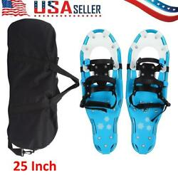 25quot; Winter Snowshoes Saw Tooth for Men Women Youth w Storage Bag Blue $52.65